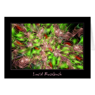 Lucid Rosebush Greeting Card