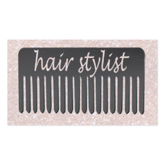 Lucida Handwriting Typography Hair Stylist & Comb Business Card