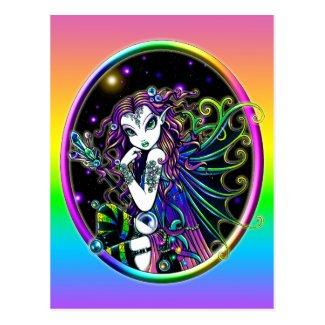 'Lucidia' Celestial Crystal Rainbow Fairy Postcard