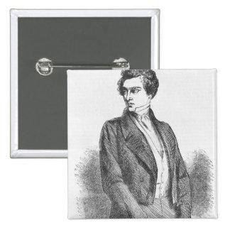 Lucien de Rubempre 2 Inch Square Button