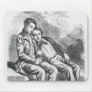 Lucien de Rubempre and David Sechard Mouse Pad