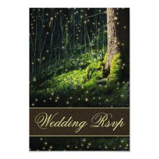 Luciérnaga encantada musgo del bosque que casa las invitación 8,9 x 12,7 cm
