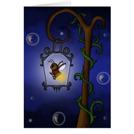luciérnaga linda tarjeta de felicitación