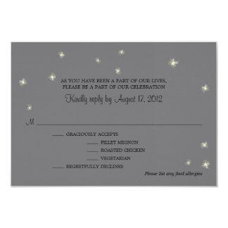 """Luciérnagas banales de la tarjeta de RSVP Invitación 3.5"""" X 5"""""""