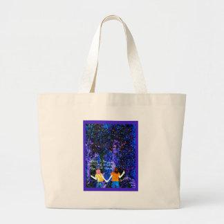 luciérnagas bolsa tela grande