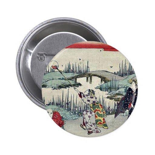 Luciérnagas de cogida por Katsukawa, Shunsen Ukiyo Pin