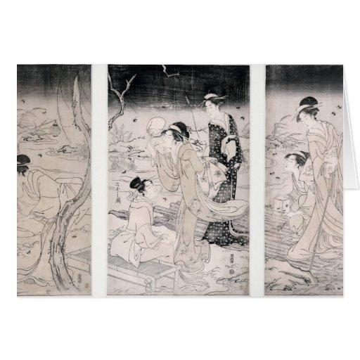 Luciérnagas de la caza en el anochecer, 1796-97 tarjetón