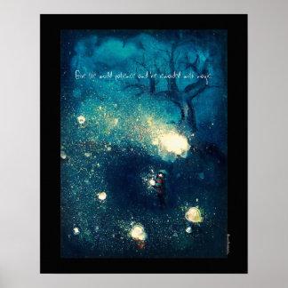 Luciérnagas - del ejemplo poster 16x20 del lustre