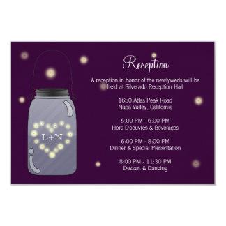 Luciérnagas en tarjeta de la recepción del amor invitación 8,9 x 12,7 cm