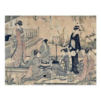 Luciérnagas por Hosoda, Eishi Ukiyoe Tarjetas Postales