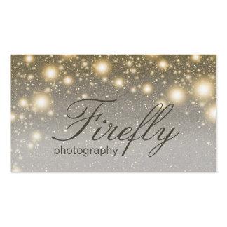 Luciérnagas que brillan intensamente de la plata y tarjetas de visita