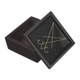 Lucifer Alchemy Sigil Gothic Art Jewelry Box