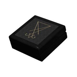 Lucifer Alchemy Sigil Gothic Art Keepsake Box