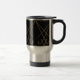 Lucifer Alchemy Sigil Gothic Art Travel Mug