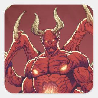 Lucifer el diablo, el príncipe de la oscuridad, pegatina cuadradas personalizada