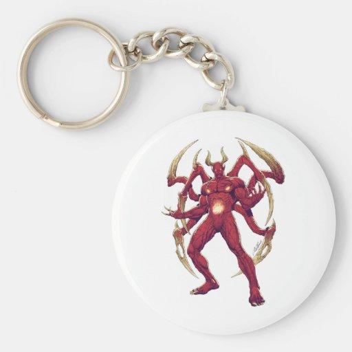 Lucifer el diablo, el príncipe de la oscuridad, Sa Llavero Redondo Tipo Pin