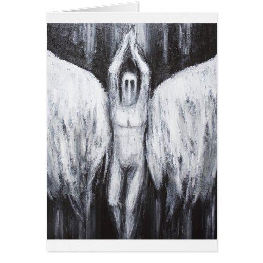 Lucifer el lucero del alba que desciende al abismo tarjeta