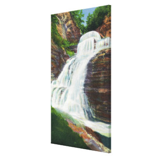 Lucifer Falls View in Robert H. Treman State Canvas Print