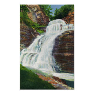 Lucifer Falls View in Robert H. Treman State Poster
