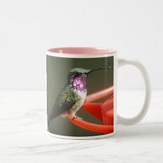Lucifer Hummingbird Mug, right-handled Two-Tone Coffee Mug