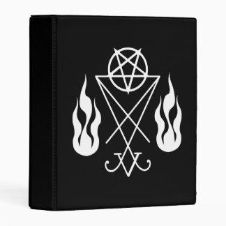 Lucifer Pentagram Book Of Shadows Mini Binder