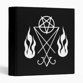 Lucifer Pentagram Flames Occult Book Of Shadows 3 Ring Binder