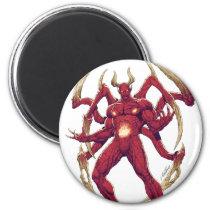 lucifer,devil,prince of darkness,satan,al rio,thomas mason,art,drawing,hell, Ímã com design gráfico personalizado