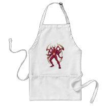 lucifer,devil,prince of darkness,satan,al rio,thomas mason,art,drawing,hell, Apron with custom graphic design