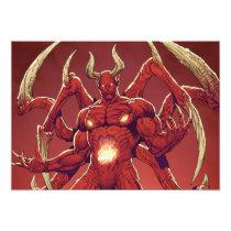 lucifer,devil,prince of darkness,satan,al rio,thomas mason,art,drawing,hell, Invitation with custom graphic design
