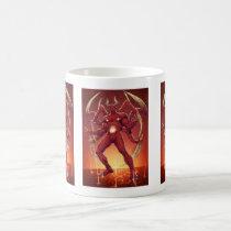 lucifer,devil,prince of darkness,satan,al rio,thomas mason,art,drawing,hell, Mug with custom graphic design