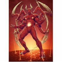 lucifer,devil,prince of darkness,satan,al rio,thomas mason,art,drawing,hell, Photo Sculpture with custom graphic design