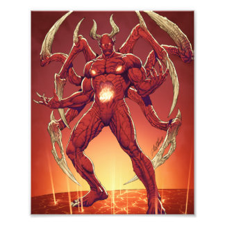 Lucifer the Devil, the Prince of Darkness, Satan Photo Print