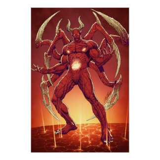 Lucifer the Devil, the Prince of Darkness, Satan Poster