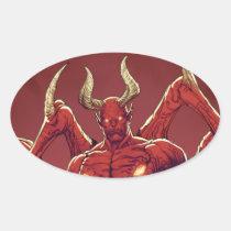 lucifer,devil,prince of darkness,satan,al rio,thomas mason,art,drawing,hell, Adesivo com design gráfico personalizado