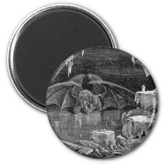 Lucifer Vintage Woodcut Engraving Goth Art Refrigerator Magnet