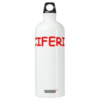 luciferian SIGG traveler 1.0L water bottle