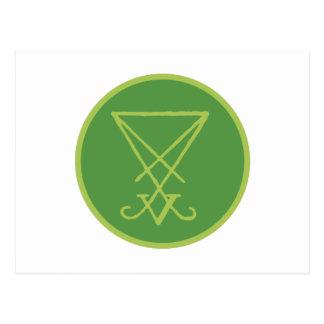 Luciferian Symbol Postcard