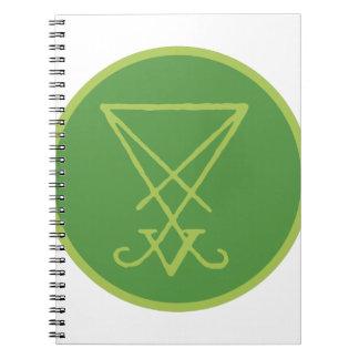 Luciferian Symbol Spiral Note Book
