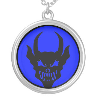 Luciferian Universalist Blue Demon Symbol Silver Plated Necklace