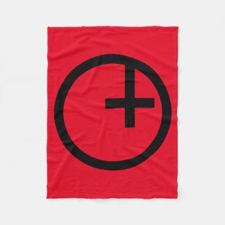 Luciferian Universalist Symbol Fleece Blanket