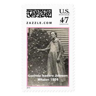 Lucinda Isadore Johnson Whalen 1924 Estampilla