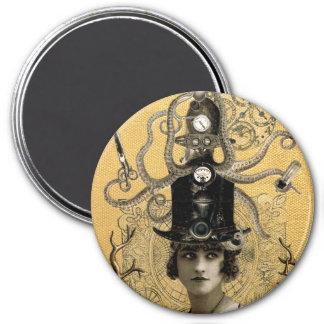 Lucinda Octavio, sombrerero del mar profundo Imán Redondo 7 Cm