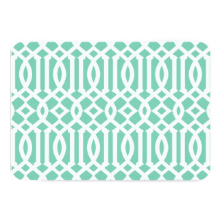 Lucite and White Modern Trellis Pattern Card