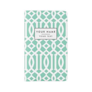 Lucite and White Modern Trellis Pattern Large Moleskine Notebook