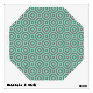Lucite Green and Gray Nested Octagon Wall Decal