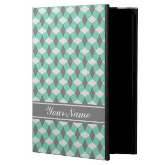 Lucite Green and Gray Wavy Pattern iPad Case