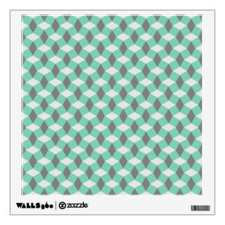 Lucite Green and Gray Wavy Pattern Wall Decal