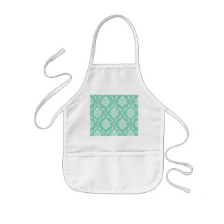 Lucite Green and White Classic Damask Kids' Apron