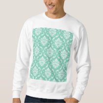 Lucite Green and White Classic Damask Sweatshirt