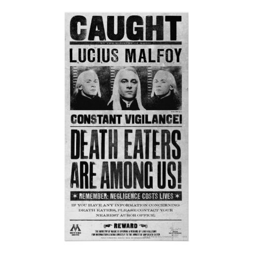 Lucius Malfoy Wanted Poster